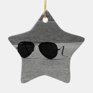 B&W Sunglasses & Mumbai Christmas Ornament