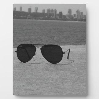 B&W Sunglasses & Mumbai Plaque