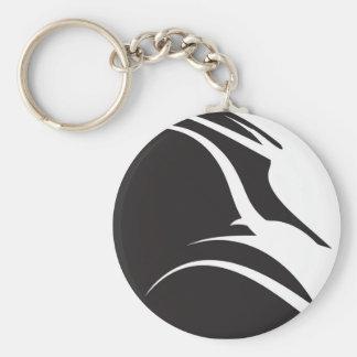 B W Swirls Kada Keychain