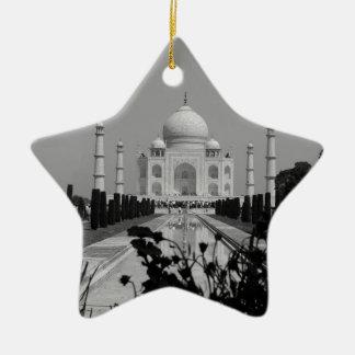 B&W Taj Mahal 2 Ceramic Star Decoration