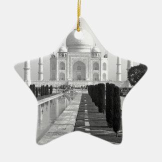 B&W Taj Mahal 3 Ceramic Star Decoration