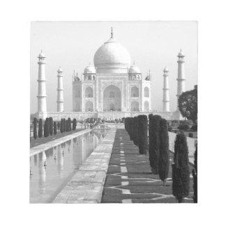 B&W Taj Mahal 3 Notepad