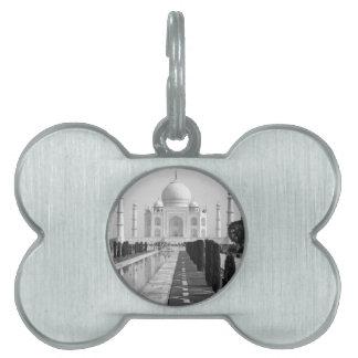 B&W Taj Mahal 3 Pet Name Tag