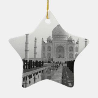 B&W Taj Mahal 4 Ceramic Star Decoration