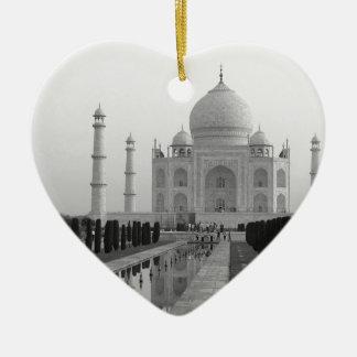 B&W Taj Mahal 4 Christmas Ornament