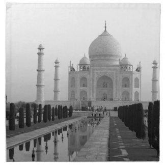 B&W Taj Mahal 4 Napkin