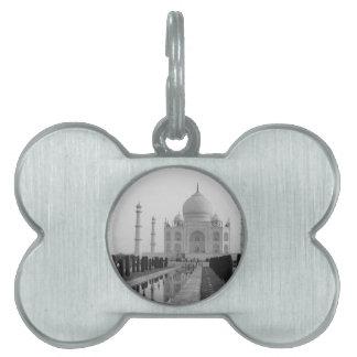 B&W Taj Mahal 4 Pet Name Tag