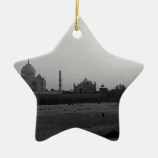 B&W Taj Mahal 5 Christmas Ornament