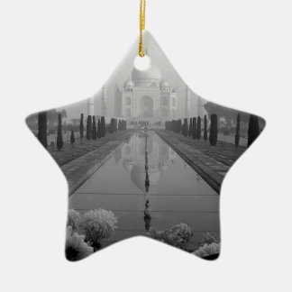 B&W Taj Mahal Christmas Ornament