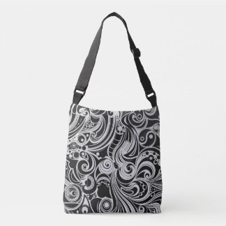 B & W Texture Crossbody Bag