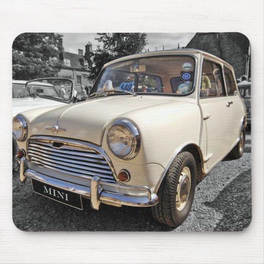 B/W Tinted 60's British Mini car Mousepad