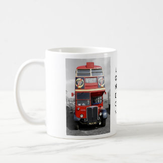 B/W Tinted London Red Bus Mug