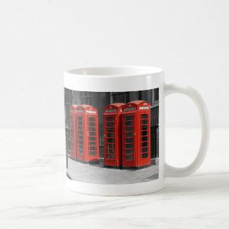 B/W Tinted London Red Telephone Boxes Mug
