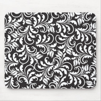 b&w tulips mouse mat