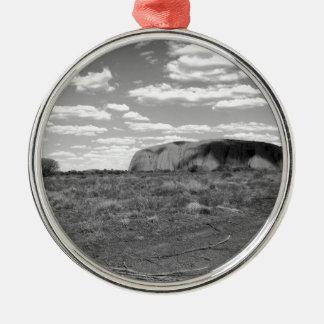 B&W Uluru 2 Christmas Ornament