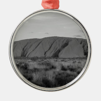 B&W Uluru Christmas Ornament