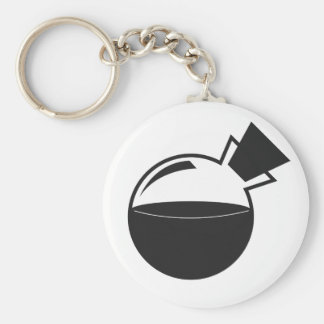 B&W Vial Logo Basic Round Button Key Ring