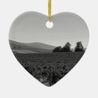 B&W Vineyard Christmas Ornament
