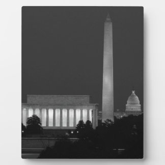 B&W Washington DC 3 Plaque