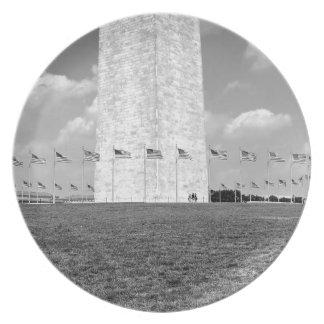 B&W Washington Monument Plate