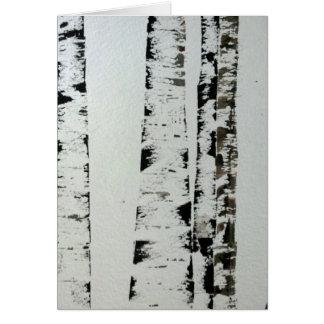 B&W Watercolor Trees Card