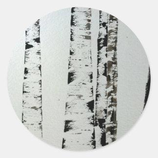 B&W Watercolor Trees Sticker