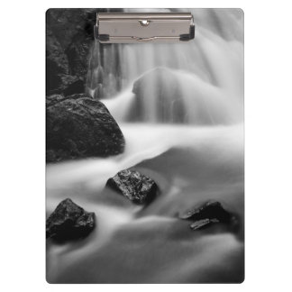 B&W waterfall, California Clipboards