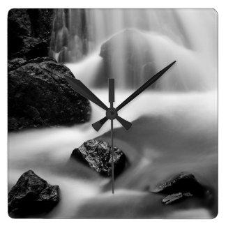 B&W waterfall, California Clock