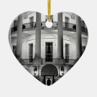 B&W White House 2 Ceramic Heart Decoration