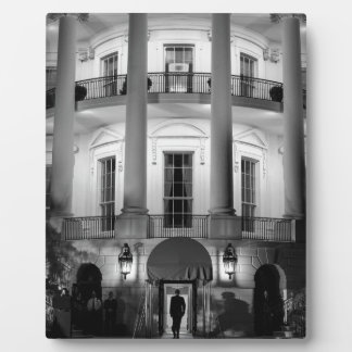 B&W White House 2 Plaque