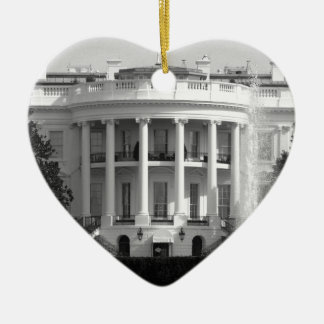 B&W White House Christmas Ornament