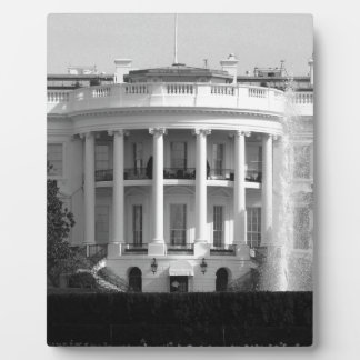 B&W White House Display Plaque