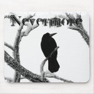 B&W Winter Raven Edgar Allan Poe Nevermore Mouse Mat