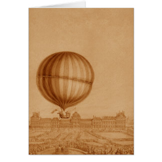 BA02284FAC01Z-First Manned Gas Balloon Flight Card