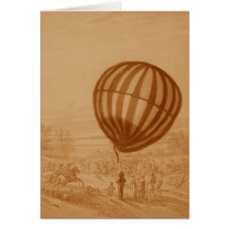 BA02285FAC01Z-First Manned Gas Balloon Flight Land Card