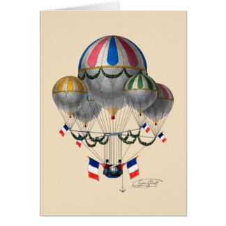 BA02298FAC01Z-Tribute to Balloonist Eugene Godard Greeting Card