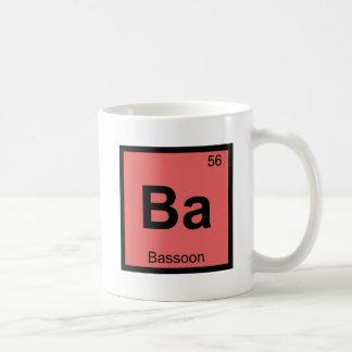 Ba - Bassoon Music Chemistry Periodic Table Coffee Mug