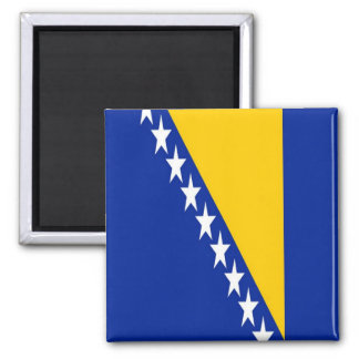 BA - Bosnia and Herzegovina - Flag Square Magnet