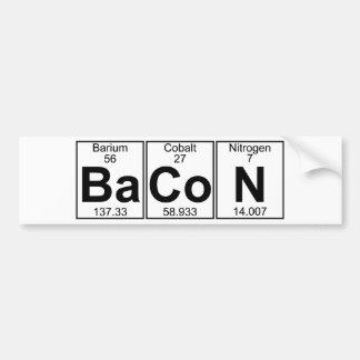 Ba-Co-N (bacon) - Full Bumper Sticker