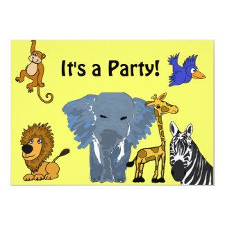 BA- Fun Party Invitiations 13 Cm X 18 Cm Invitation Card
