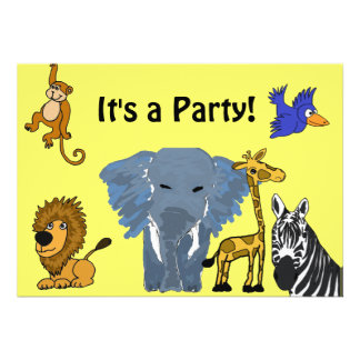 BA- Fun Party Invitiations Custom Announcements
