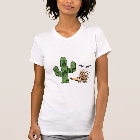 BA- Funny Cartoon Porcupine and Cactus T-shirt