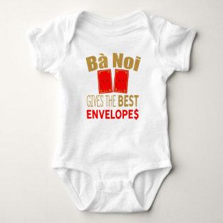 Ba Noi gives the best Red Envelopes Tet Baby Bodysuit