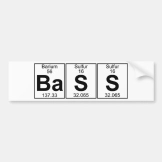 Ba-S-S (bass) - Full Bumper Sticker