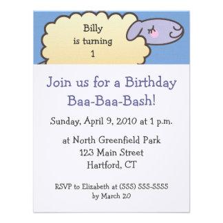 Baa-Baa Birthday Bash Invitations - 4 25 in