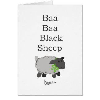 Baa Baa Black Sheep Card