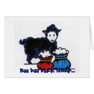 Baa baa black sheep... card