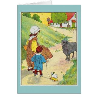 Baa, baa, black sheep, Have you any wool? Card