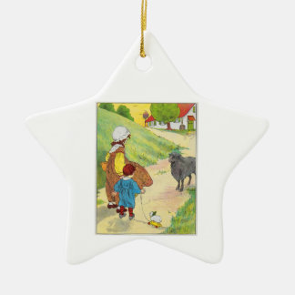 Baa, baa, black sheep, Have you any wool? Christmas Ornament