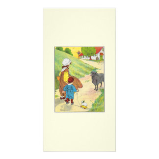 Baa, baa, black sheep, Have you any wool? Custom Photo Card